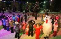 Дискотека на снегу в п. Ермаково